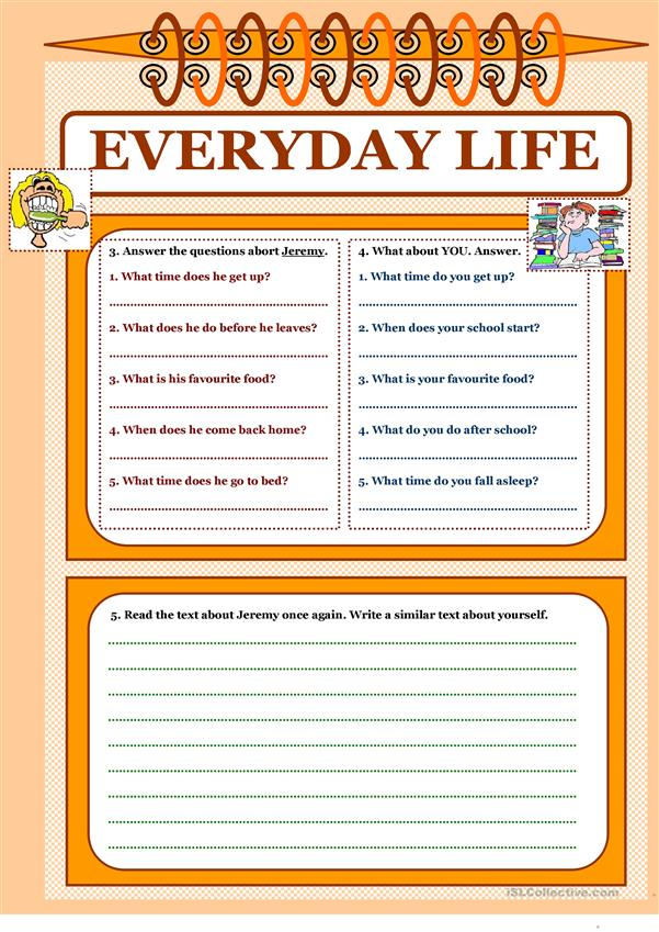 Let's read and write about ... (1) - Everyday Life