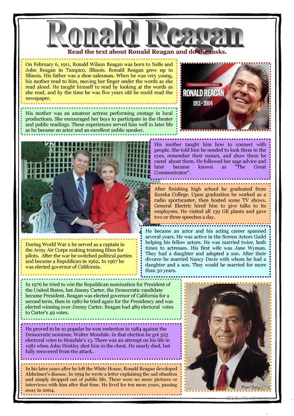 Reading - RONALD REAGAN