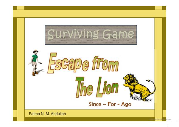 Surviving Game: Escape From The Lion [Since-For-Ago]