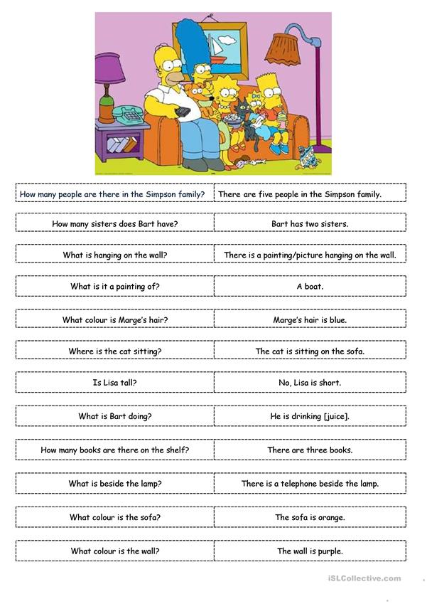 The Simpsons - Speaking exercise