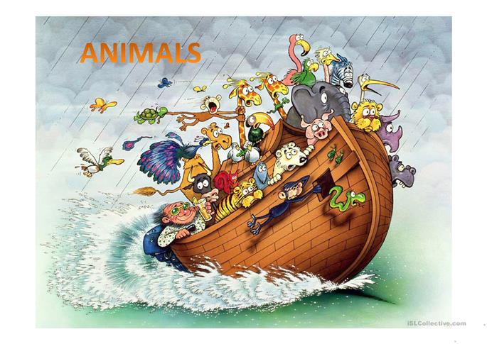 Animals - Guess the word - ESL worksheets