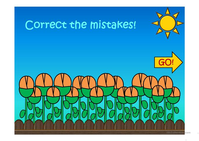 Correct the mistakes: Grammar review • present simple• too, also, e... - ESL powerpoints