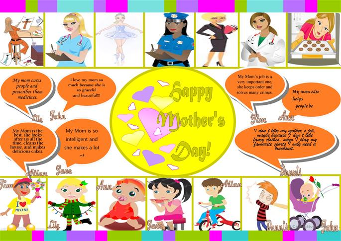 Happy Mother's Day! - ESL worksheets