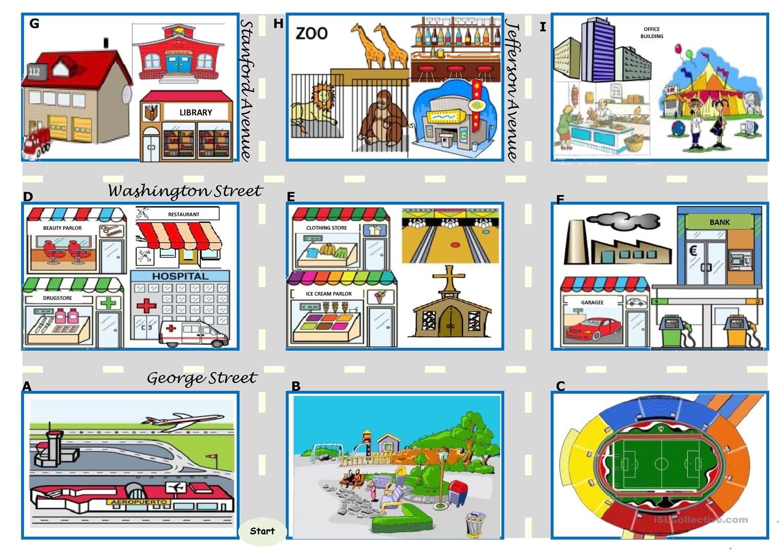 asking for directions there be prepositions directions map boardgame 4 tasks 24 cards. Black Bedroom Furniture Sets. Home Design Ideas