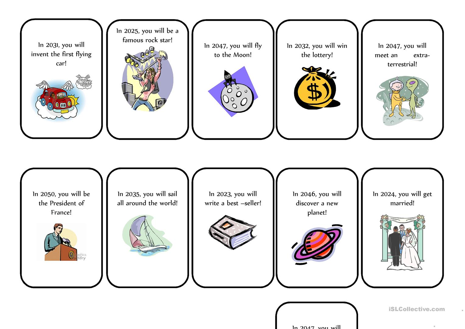 Fortune Teller Cards English Esl Worksheets For Distance Learning And Physical Classrooms