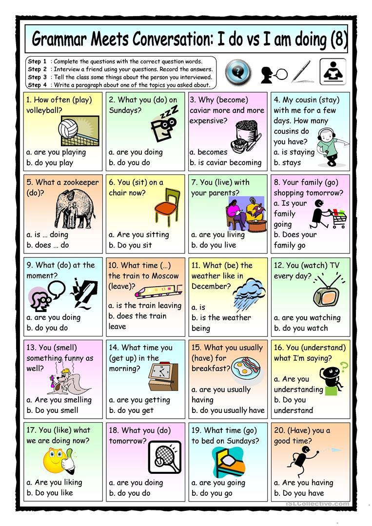 Grammar Meets Conversation Do Does Did Are Is Was Were 4 The Animal World English Esl Worksheets For Distance Learning And Physical Classrooms