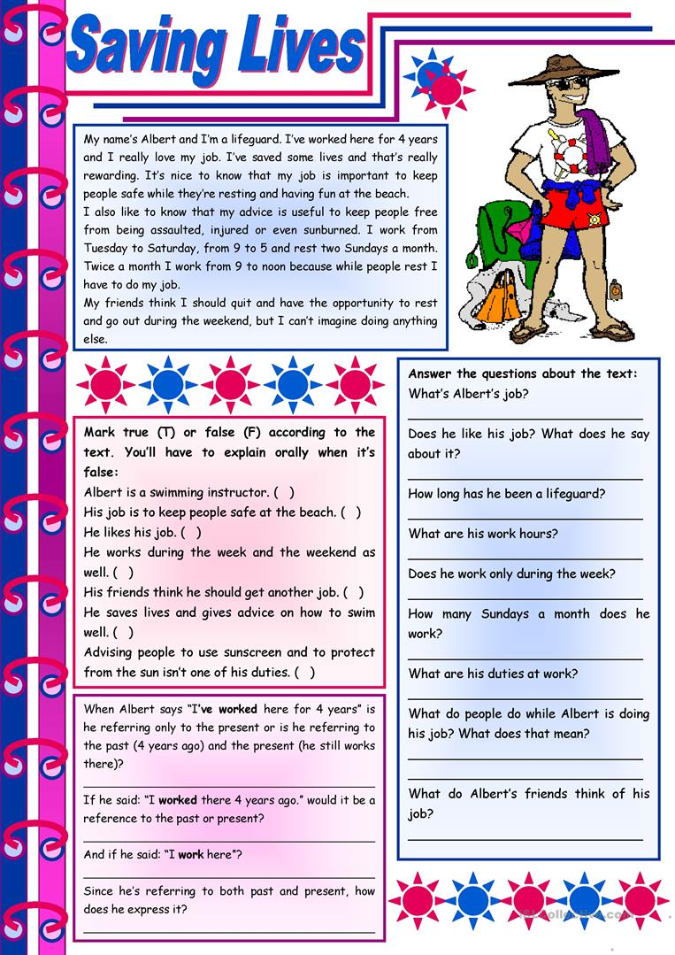 Uncategorized Esl Reading Comprehension Worksheets 50 000 free esl efl worksheets made by teachers for saving lives reading comprehension grammar present perfect f