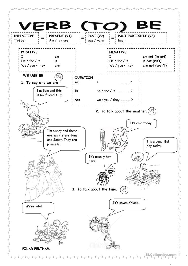 verb to be worksheet free esl printable worksheets made by teachers. Black Bedroom Furniture Sets. Home Design Ideas
