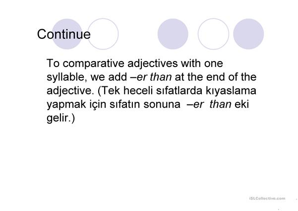 comparative superlative