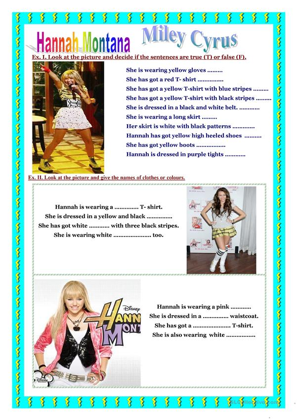 Reading, colouring  - Hannah Montana
