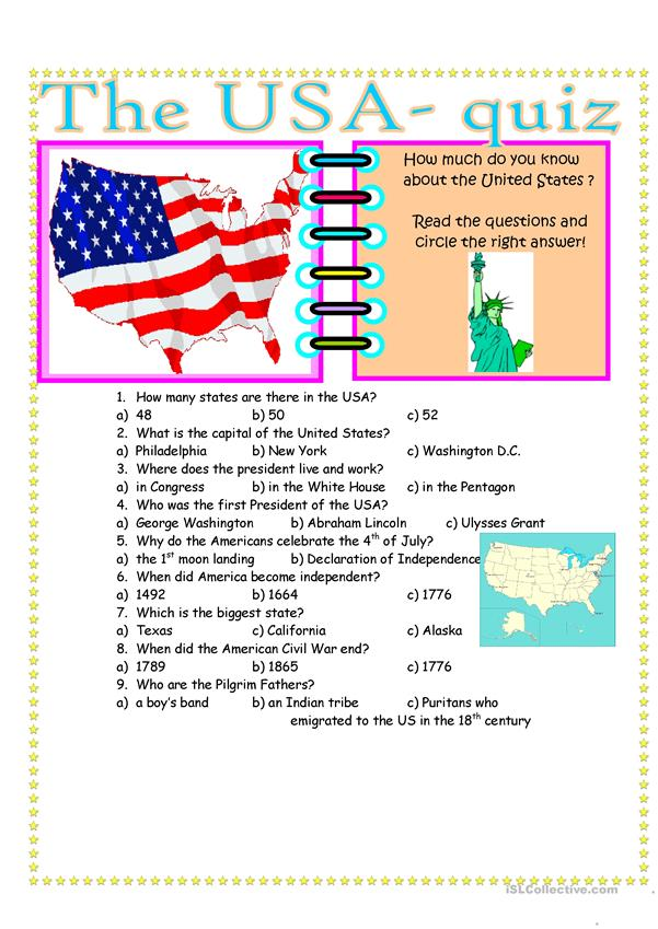 The USA- Quiz