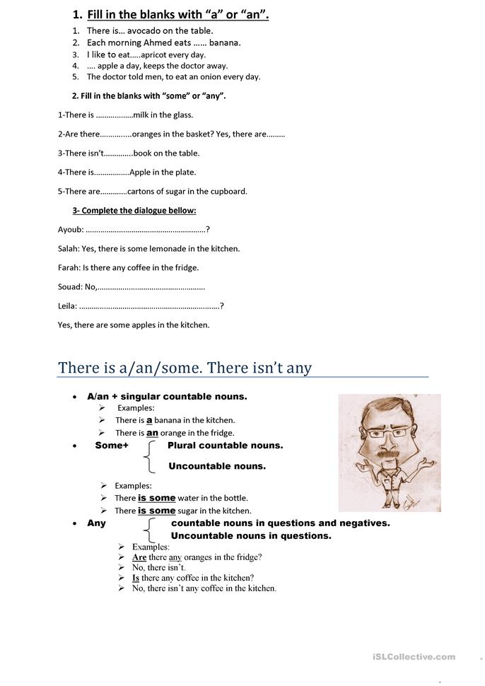 Countable and uncountable nouns - ESL worksheets