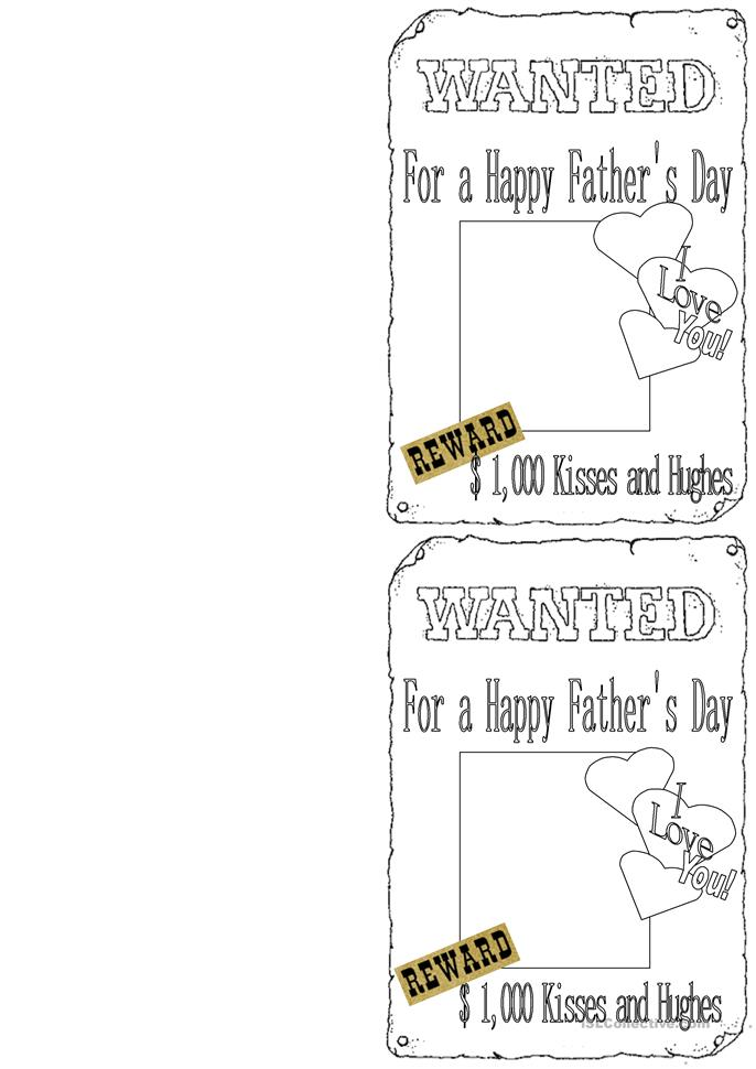 Father's Day - ESL worksheets