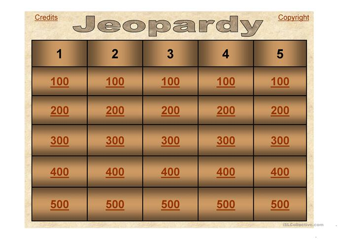 Jeopardy on Passive Voice - ESL worksheets
