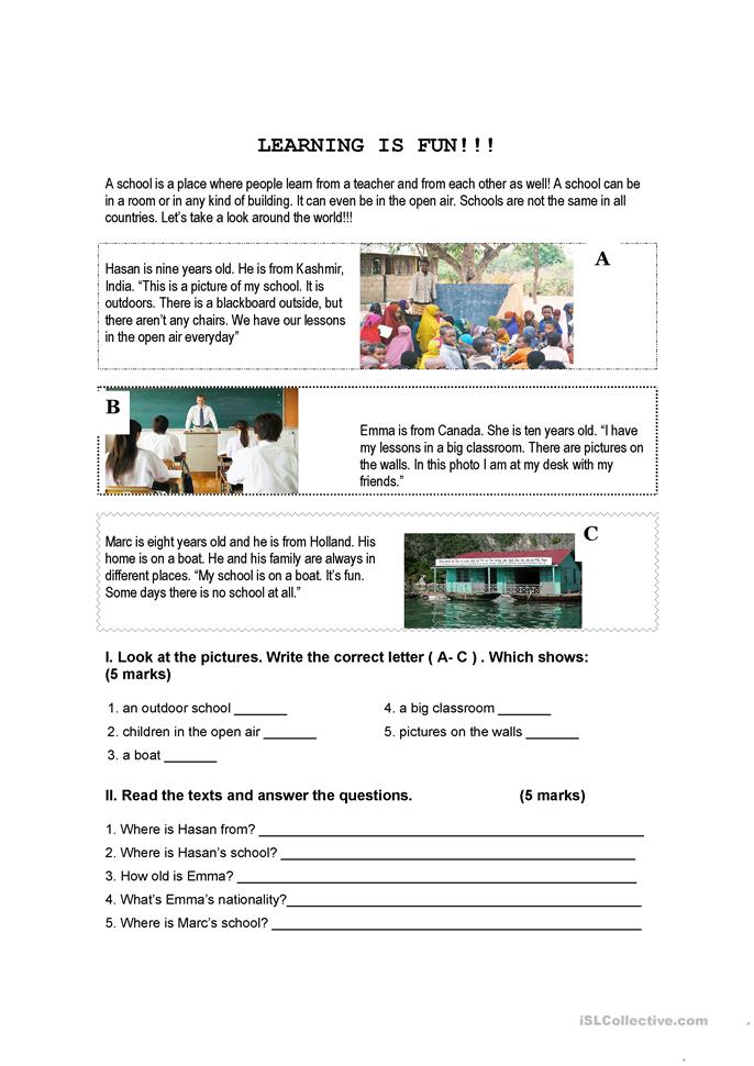 Reading verb to be - ESL worksheets