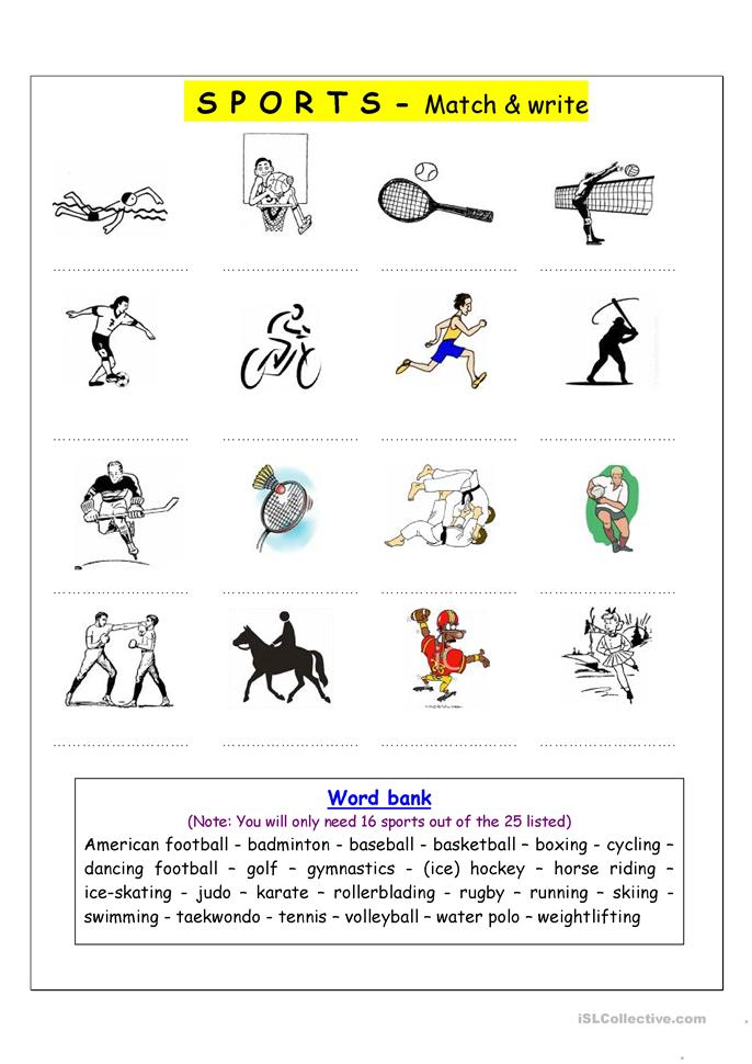 vocabulary matching worksheet sports worksheet free esl printable worksheets made by teachers. Black Bedroom Furniture Sets. Home Design Ideas