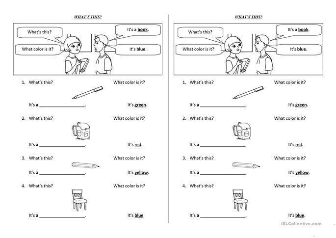 what's this? - ESL worksheets