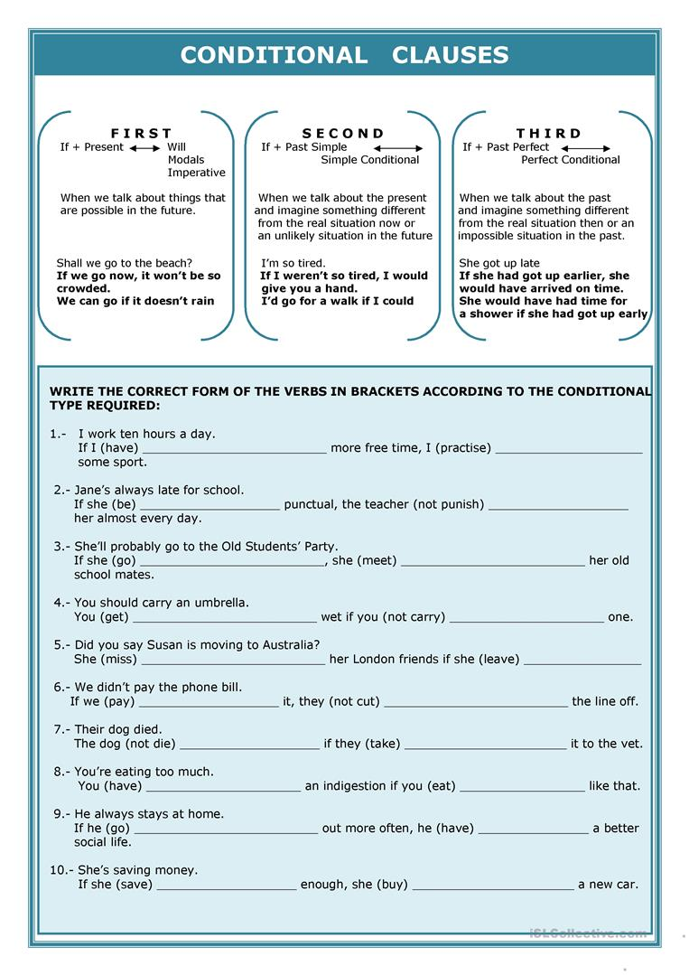 Conditionals worksheet - Free ESL printable worksheets made by teachers