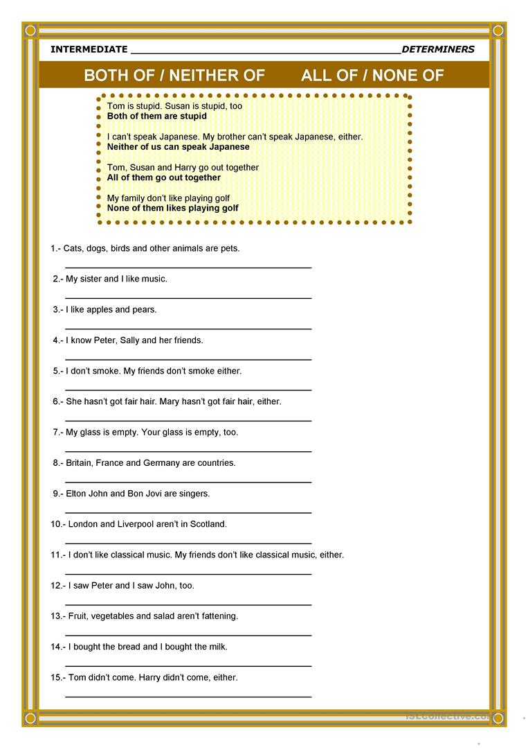 determiners worksheet free esl printable worksheets made by teachers. Black Bedroom Furniture Sets. Home Design Ideas