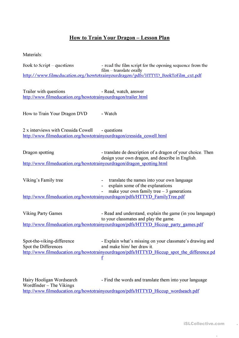 How to train your dragon webquest worksheet free esl printable how to train your dragon webquest full screen ccuart Choice Image