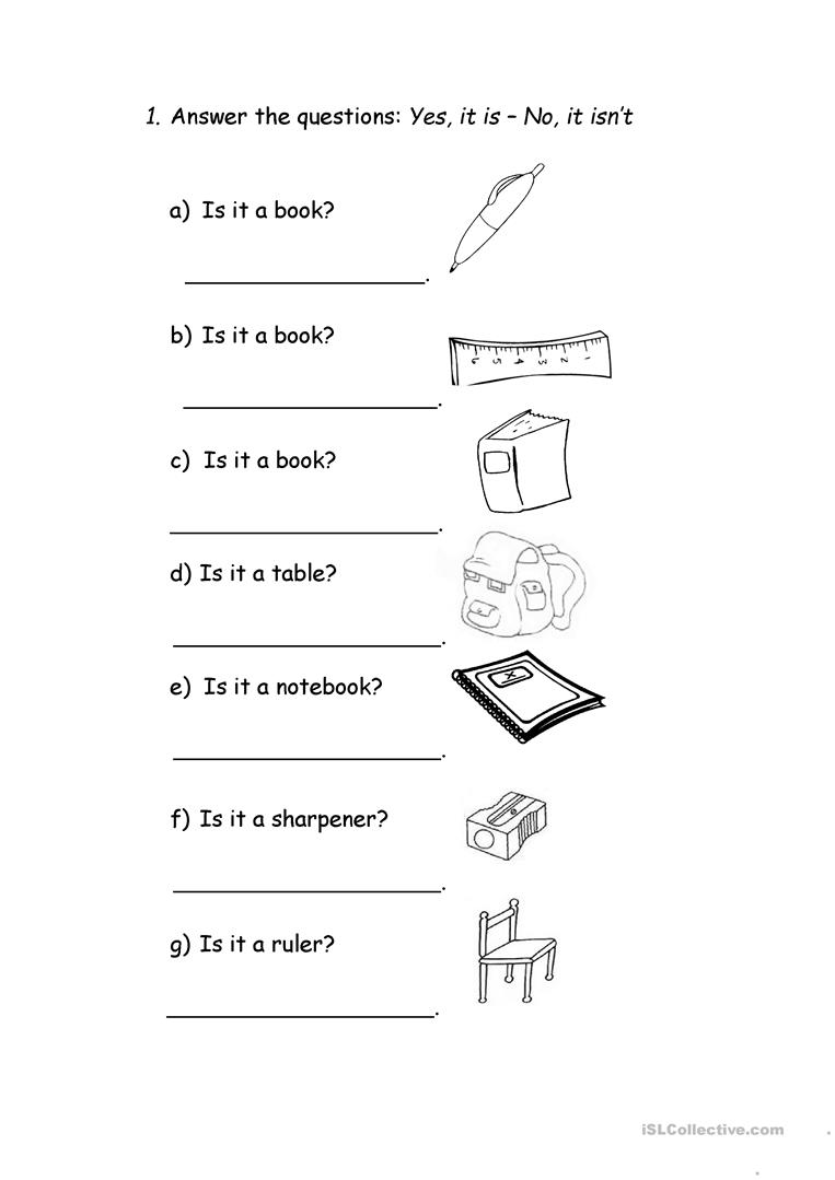 IS IT A PENCIL? - English ESL Worksheets
