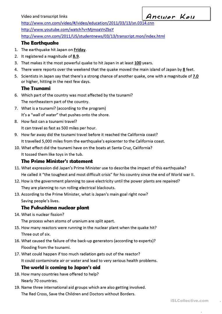 Japan earthquake a video activity worksheet free esl printable full screen robcynllc Choice Image