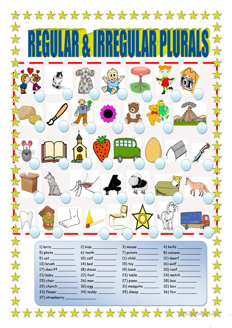Uncategorized Irregular Plural Noun Worksheets 35 free esl irregular plurals worksheets regular and plurals