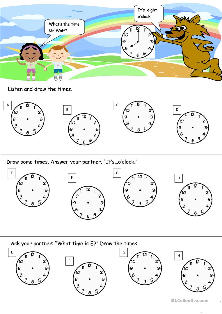 what 39 s the time mr wolf worksheet free esl printable worksheets made by teachers. Black Bedroom Furniture Sets. Home Design Ideas