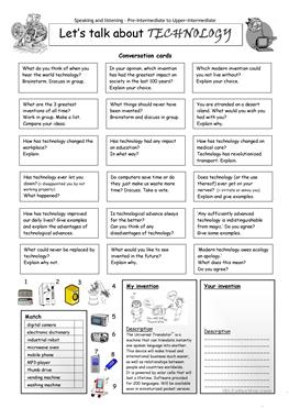 184 FREE ESL Computers & Technology worksheets