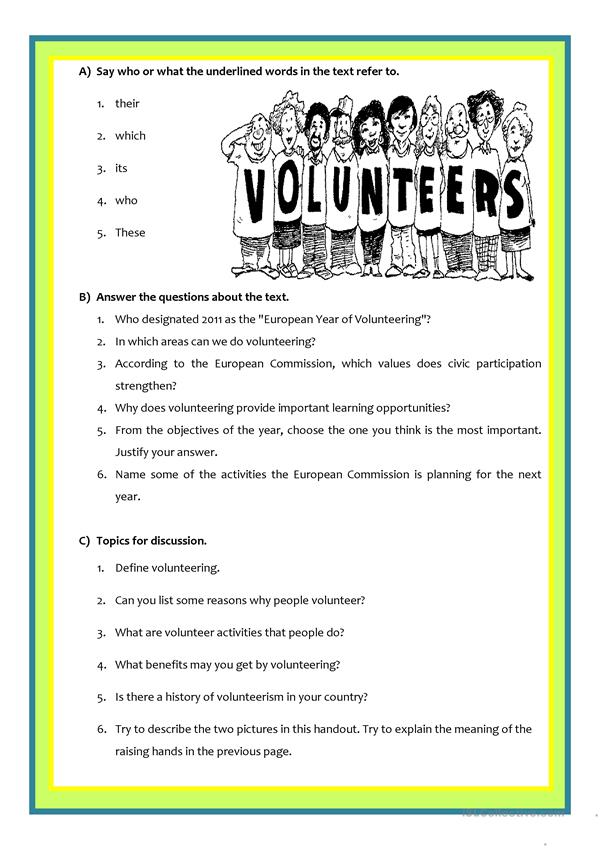 2011: European Year of volunteering