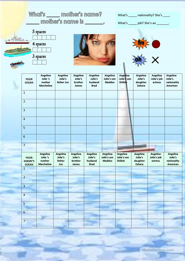 battleship Possessive adjectives