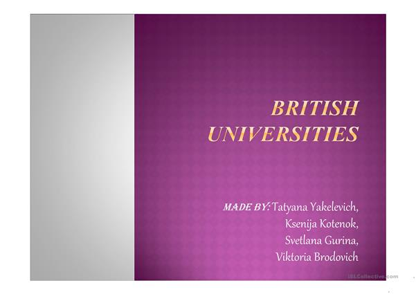 british univercities