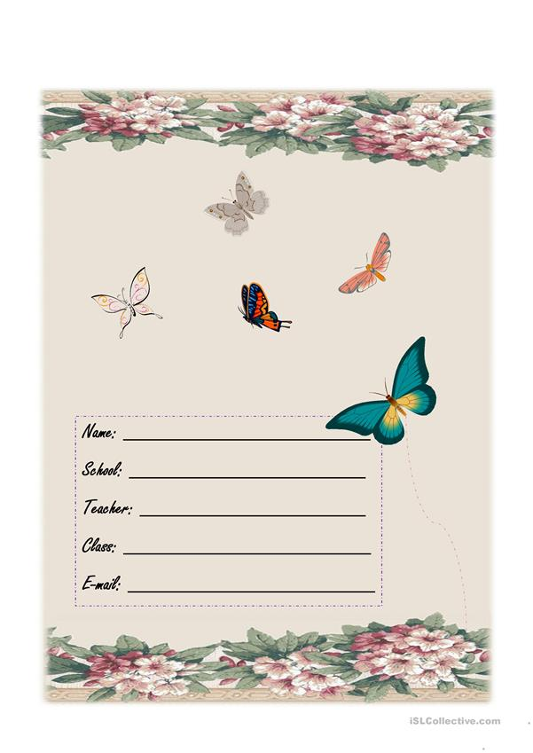 copybook cover for girls