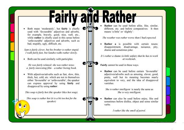 Fairly and Rather - A Guide