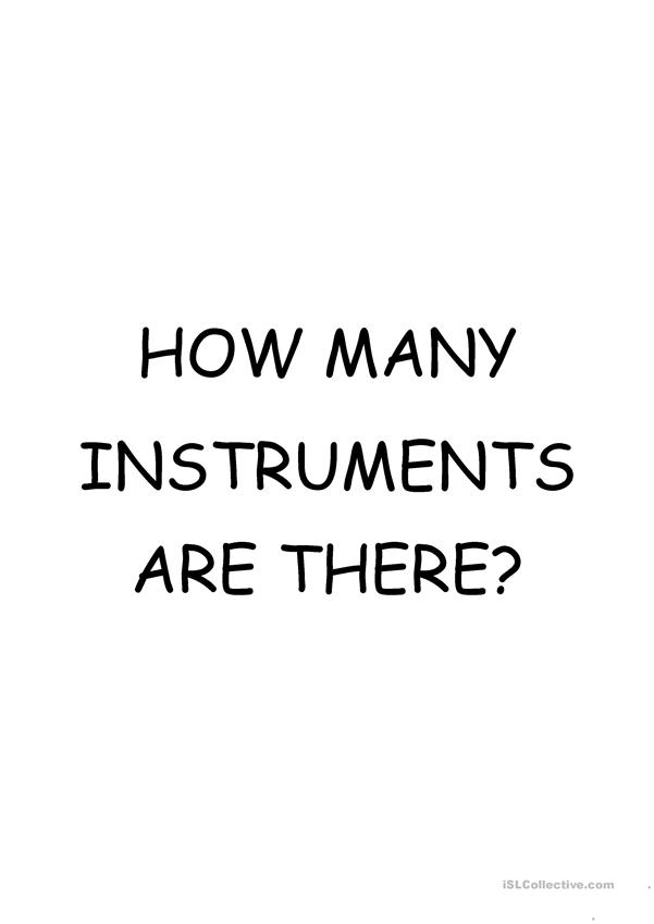 Flash Cards - Music Instruments / How many