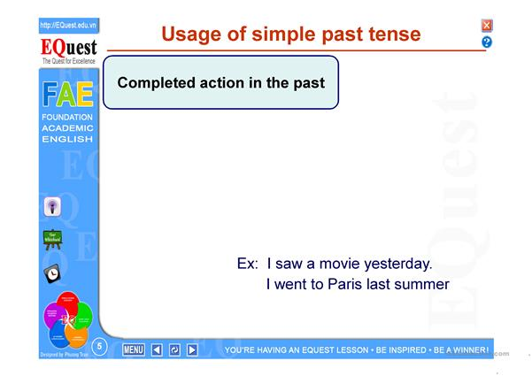 LESSON PLAN ON PAST SIMPLE