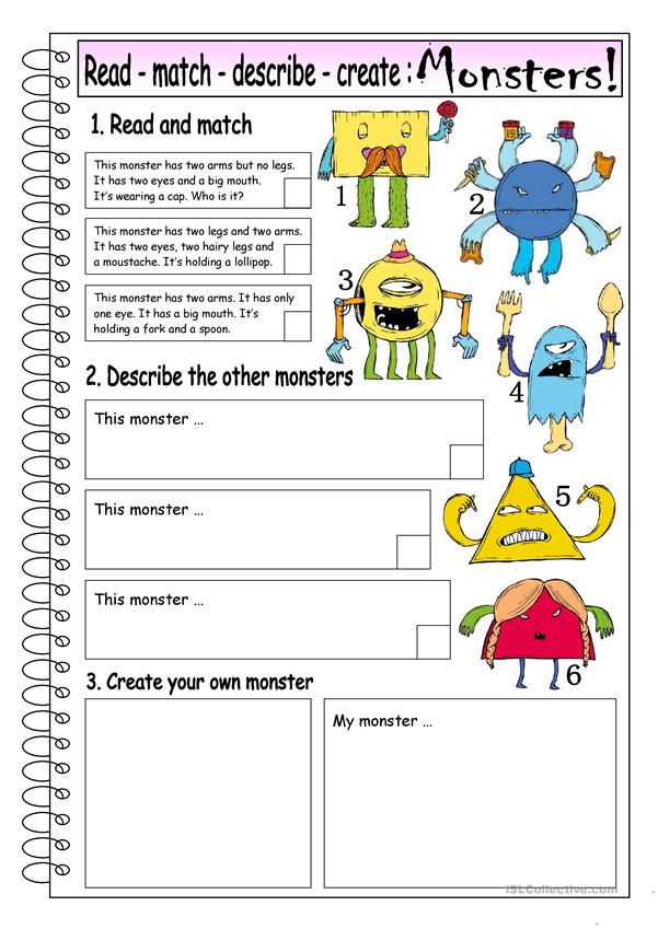 Read - Match - Describe - Create: MONSTERS (1)