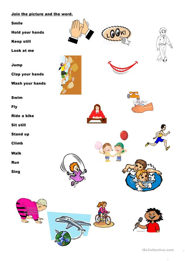 Simple action verbs exercise