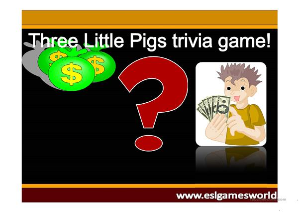 THREE LITTLE PIGS GAME JEOPARDY