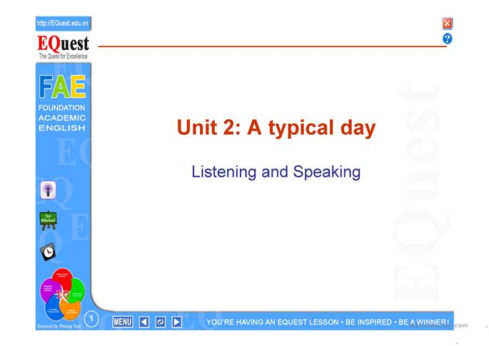 A typical day - ESL worksheets