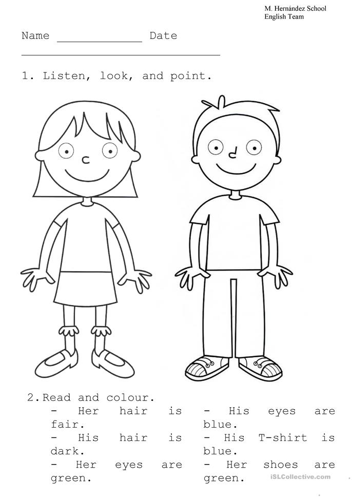 boy and girl - ESL worksheets