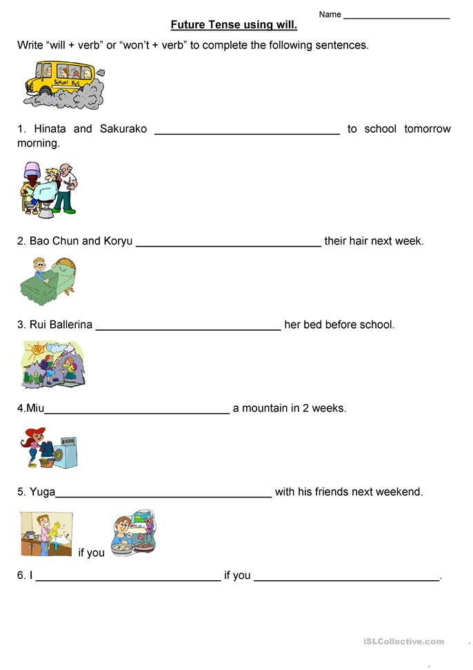 all worksheets future tense worksheets printable worksheets guide for children and parents. Black Bedroom Furniture Sets. Home Design Ideas