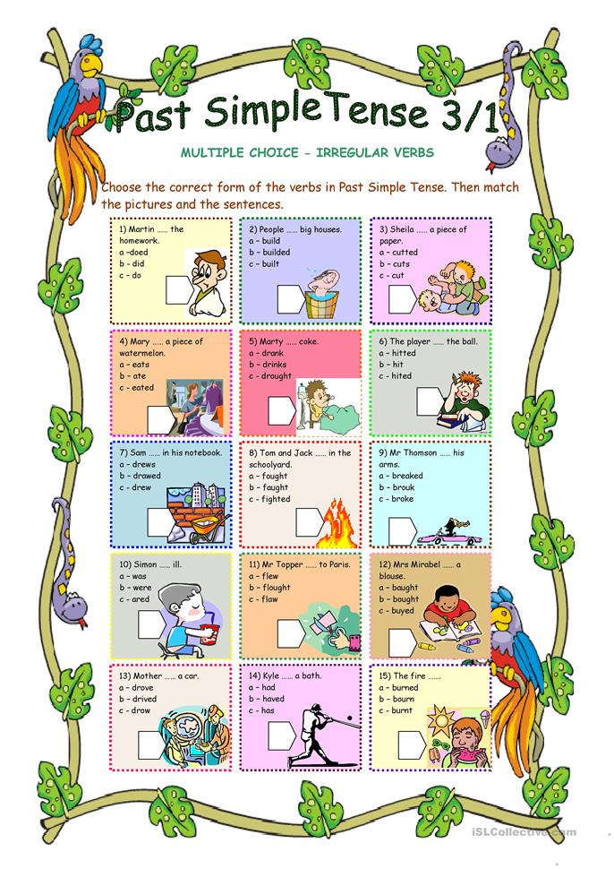 mother and past tense verb