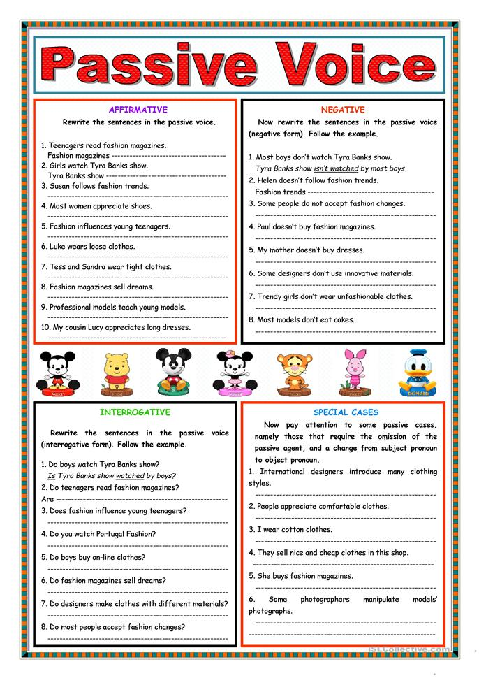 475 FREE ESL Passive voice or active voice worksheets