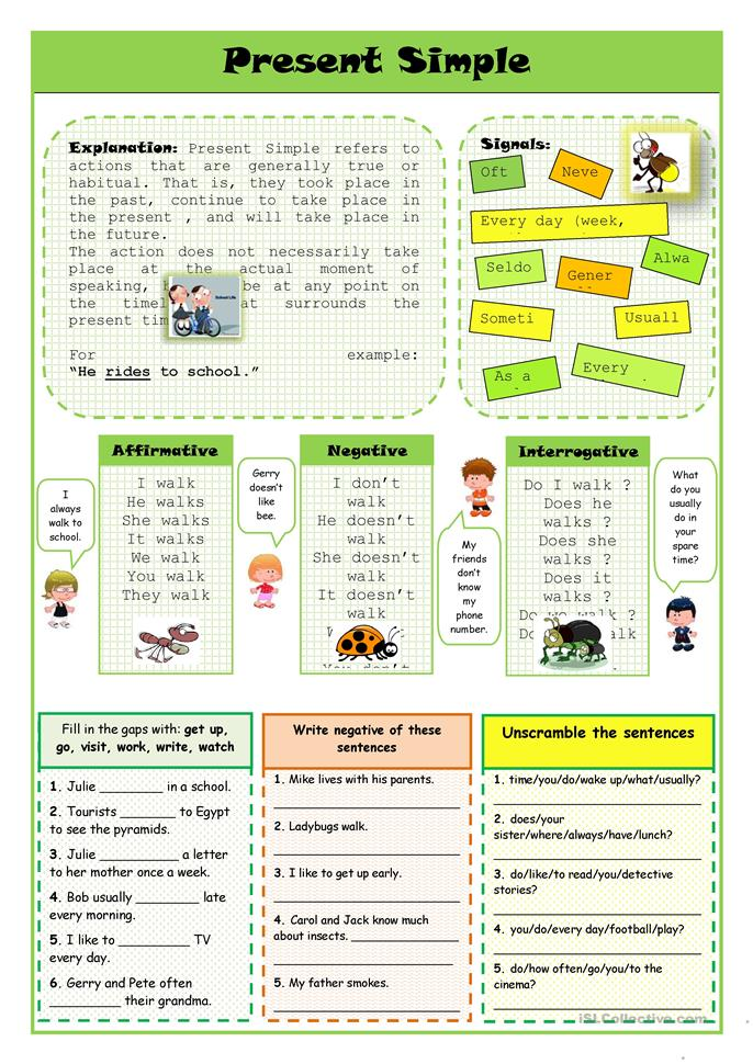 Present Simple - ESL worksheets