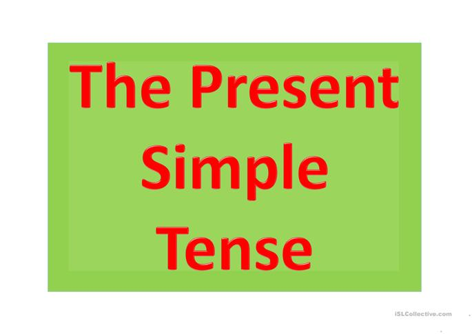 The Present Simple - ESL powerpoints