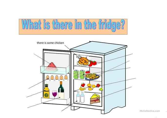 What is there in the fridge? - ESL worksheets