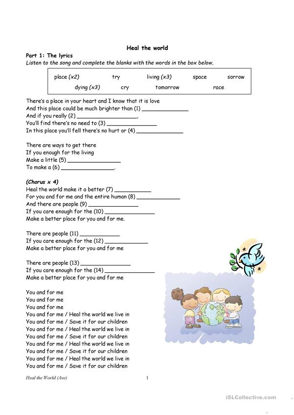 Making our world a better place - English ESL Worksheets