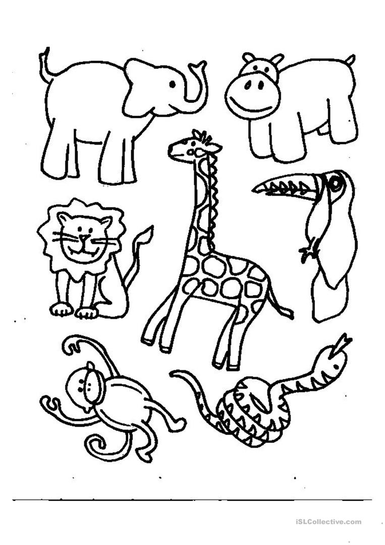 animals coloring worksheet free esl printable worksheets made by teachers. Black Bedroom Furniture Sets. Home Design Ideas