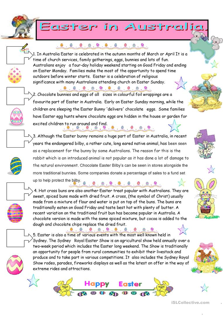 - Easter In Australia - English ESL Worksheets For Distance Learning